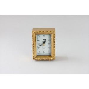 アンティークスタイル時計 アンティーク調ゴールドの小型置き時計 スクエア アンティーク調 時計 置き時計 ゴールド|rcmdin