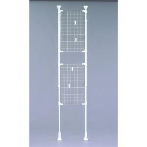 アイリスオーヤマ メッシュパーテーション 伸縮棒棚 (ホワイト) 幅670mm RP-670|rcmdin