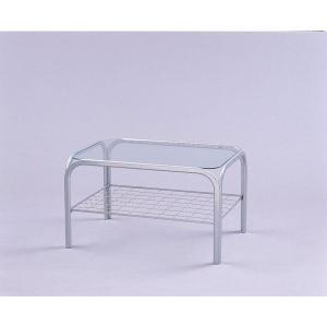 アイリスオーヤマ マイセルフガラステーブル マイセルフ シルバー SIG-603|rcmdin
