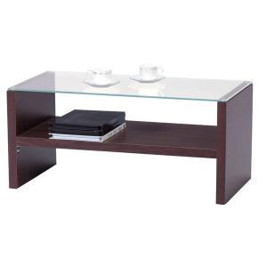 テーブル ガラステーブル センターテーブル ブラウン HAB-621BR|rcmdin