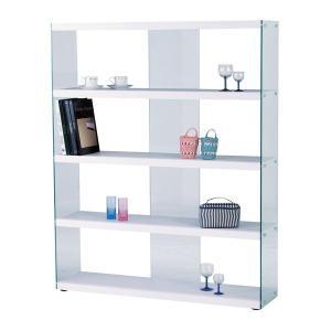 シェルフ ラック 棚 ワイドグラスシェルフ HAB-625WH|rcmdin