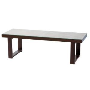 テーブル ガラステーブル 天然木 ブラウン NET-411BR|rcmdin