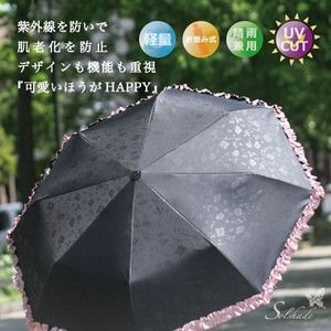 【晴雨兼用】超軽量8本骨・折りたたみ日傘・99%UVカット solshade002 rcmdin