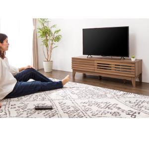 テレビ台 ライン 120幅 幅120cm テレビボード 格子 シンプル ローボード 組み立て 組立 AVボード AVラック TVボード 木製 TV台 代引不可|rcmdin|08