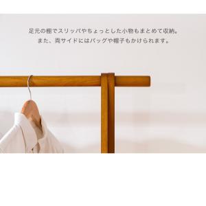 木製A型ハンガー 幅103cm 木製 高耐荷重ハンガー 耐荷重50kg ハンガーラック 天然木 洋服掛け 代引不可|rcmdin|10