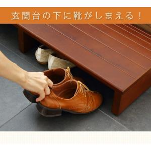 玄関台 幅60cm 玄関 台 踏み台 ステップ 木製 玄関ステップ 段差 軽減 靴 昇降台 補助具 足場 完成品 rcmdin 06