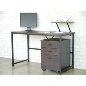 【T−ピクシー】 パソコンデスク デスク 幅120cm ダークブラウン 木製 ワークデスク オフィスデスク 机 つくえ パソコンラック 勉強机 パソコン机|rcmdin