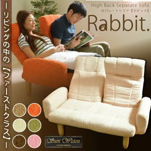 角度調節 ソファ リクライニング 左右分割型 セパレートソファ Rabbit ラビット|rcmdin