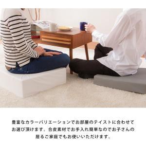 座布団 合皮 レザークッション 45×45×厚さ15cm 正方形 ウレタン クッション 椅子 座椅子 フロアクッション 座布団|rcmdin|06