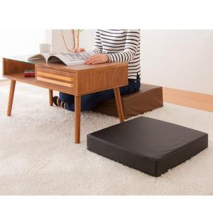 座布団 合皮 レザークッション 45×45×厚さ15cm 正方形 ウレタン クッション 椅子 座椅子 フロアクッション 座布団|rcmdin|07