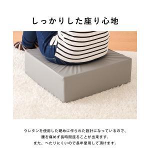 座布団 合皮 レザークッション 45×45×厚さ15cm 正方形 ウレタン クッション 椅子 座椅子 フロアクッション 座布団|rcmdin|09