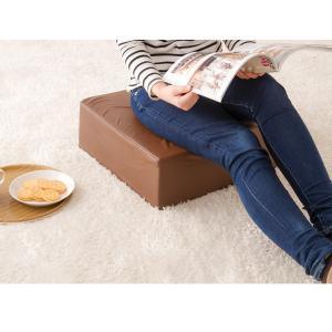 座布団 合皮 レザークッション 45×45×厚さ15cm 正方形 ウレタン クッション 椅子 座椅子 フロアクッション 座布団|rcmdin|10