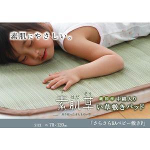 純国産 やわらかい草の敷きパッド 『さらさらKA ベビー敷P』 70×120cm (中綿入り)|rcmdin