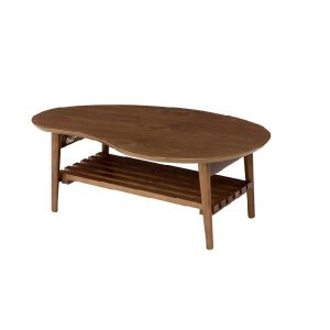 NOIX(ノワ)棚付折れ脚テーブル-ビーンズ LP-9123-ブラウン rcmdin