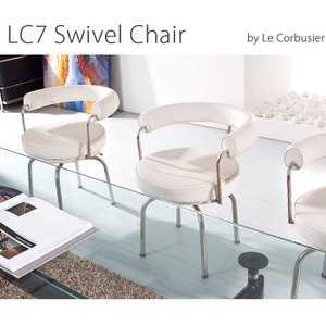 コルビジェ オフィスチェア LC7 スウィベルチェア デザイナーズ チェア ル・コルビジェ 代引不可 rcmdin 02