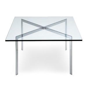 センターテーブル ローテーブル デザイナーズテーブルバルセロナテーブル ミース・ファン・デル・ローエ 代引不可|rcmdin