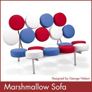 マシュマロソファー ジョージ ネルソン George Nelson Marshmallow Sofa ミッドセンチュリー 1年保証付 送料無料|rcmdin