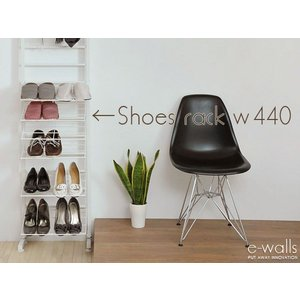 e'walls つっぱりシューズラック440(CW-002) 玄関収納 下駄箱 収納ラック 靴 シューズ インテリア つっぱり 壁面収納|rcmdin