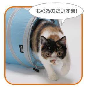 猫壱 キャットトンネル スパイラル ブルーの詳細画像2