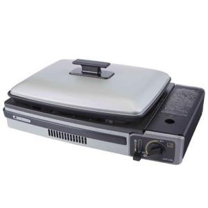 手軽なカセットボンベ式調理器 カセットコンロ ホットプレート プレート付き 代引不可