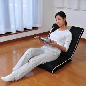 【商品説明】 背中をグーンと伸ばしてリフレッシュ!背伸び専用ギアの入った6段階リクライニングの座椅子...