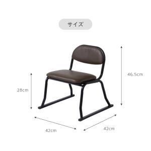 和座敷チェア コンパクト 2脚セット 高座椅子 座椅子 スタッキングチェア 会席 法事 法要 介護 和室 椅子 いす イス 代引不可|rcmdin|04