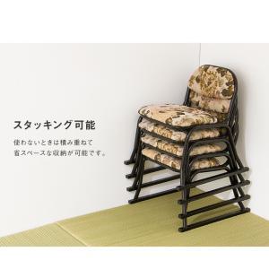 和座敷チェア コンパクト 2脚セット 高座椅子 座椅子 スタッキングチェア 会席 法事 法要 介護 和室 椅子 いす イス 代引不可|rcmdin|09