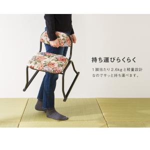和座敷チェア コンパクト 2脚セット 高座椅子 座椅子 スタッキングチェア 会席 法事 法要 介護 和室 椅子 いす イス 代引不可|rcmdin|10
