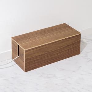 天然木 ケーブルボックス 木製 配線ボックス コード ケーブル タップ 収納 蓋付き ケース ボックス おしゃれ 北欧|rcmdin