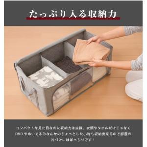 竹炭収納袋 衣類収納ケース 折りたたみ クローゼット収納 収納BOX 収納ボックス 収納用品 隙間収納 炭入り消臭|rcmdin|05