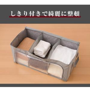 竹炭収納袋 衣類収納ケース 折りたたみ クローゼット収納 収納BOX 収納ボックス 収納用品 隙間収納 炭入り消臭|rcmdin|07