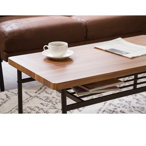 棚付収納センターテーブル テーブル 木製 木目 ローテーブル リビングテーブル コーヒーテーブル 収納付き 幅90cm シンプル rcmdin 06