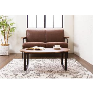 変形デザインセンターテーブル テーブル デザインテーブル 木製 木目 ローテーブル リビングテーブル コーヒーテーブル rcmdin 12