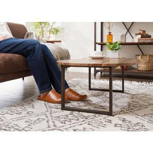 変形デザインセンターテーブル テーブル デザインテーブル 木製 木目 ローテーブル リビングテーブル コーヒーテーブル rcmdin 04