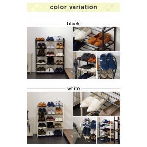 シューズラック 5段 収納 靴箱 シューズボッ...の詳細画像2