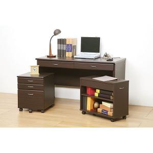 机 デスク システムデスク120 ブラウン|rcmdin