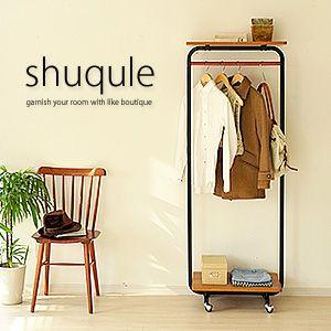 ハンガーラック ポールハンガー 衣類収納 ハンガー 木製 ハンガーラック shuqule 〔シュクレ〕60|rcmdin