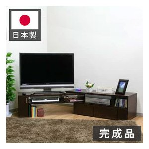 完成品 国産 テレビ台 伸張テレビボード 幅110cm〜幅198cm 日本製 TV台 伸縮 伸張 テレビボード テレビラック ブラウン ホワイト rcmdin