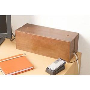 桐ケーブルボックス ブラウン色 IW-0005 日本製 完成品|rcmdin