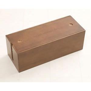 桐ケーブルボックス ブラウン色 2個セット IW-0006 日本製 完成品|rcmdin