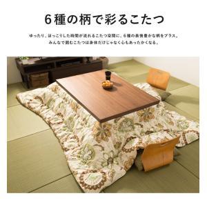 日本製 こたつ布団 オックス 正方形 185×...の詳細画像5