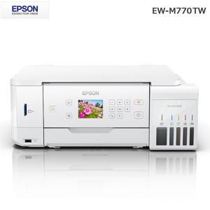 エプソン EPSON エコタンク 大容量インクタンク搭載 A4 EW-M770TW ホワイト プリンター 白黒 カラー A4 コピー インクジェットプリンター スキャナー|rcmdin