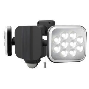 ムサシ RITEX ライテックス LEDコンセント式センサーライト 12W×2灯 ハロゲン400W相...