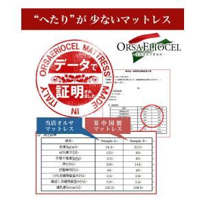 イタリア製 オルサエリオセル マットレス シングルサイズ 一層タイプ 高反発 健康|rcmdin|02