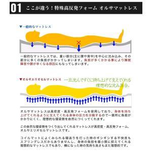 イタリア製 オルサエリオセル マットレス シングルサイズ 一層タイプ 高反発 健康|rcmdin|05
