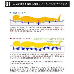 イタリア製 オルサエリオセル マットレス セミダブルサイズ 高反発 健康 三つ折り 代引不可 rcmdin 06