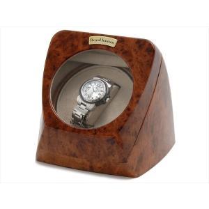 ロイヤルハウゼン Royal hausen ウォッチワインダー ワインディングマシーン 1本巻き SR055 木目調 ウォッチケース 腕時計ケース rcmdin 05