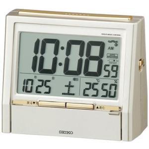 セイコー SEIKO 電波目覚まし時計 音声時報クロック DA206 ゴールド|rcmdin