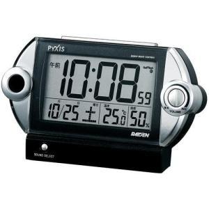セイコー製 ピクシス 電波目ざまし時計 ライデン NR522 ブラック|rcmdin