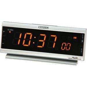 シチズン電波目覚まし時計 AC電源 パルデジットピュア 8RZ099-019|rcmdin